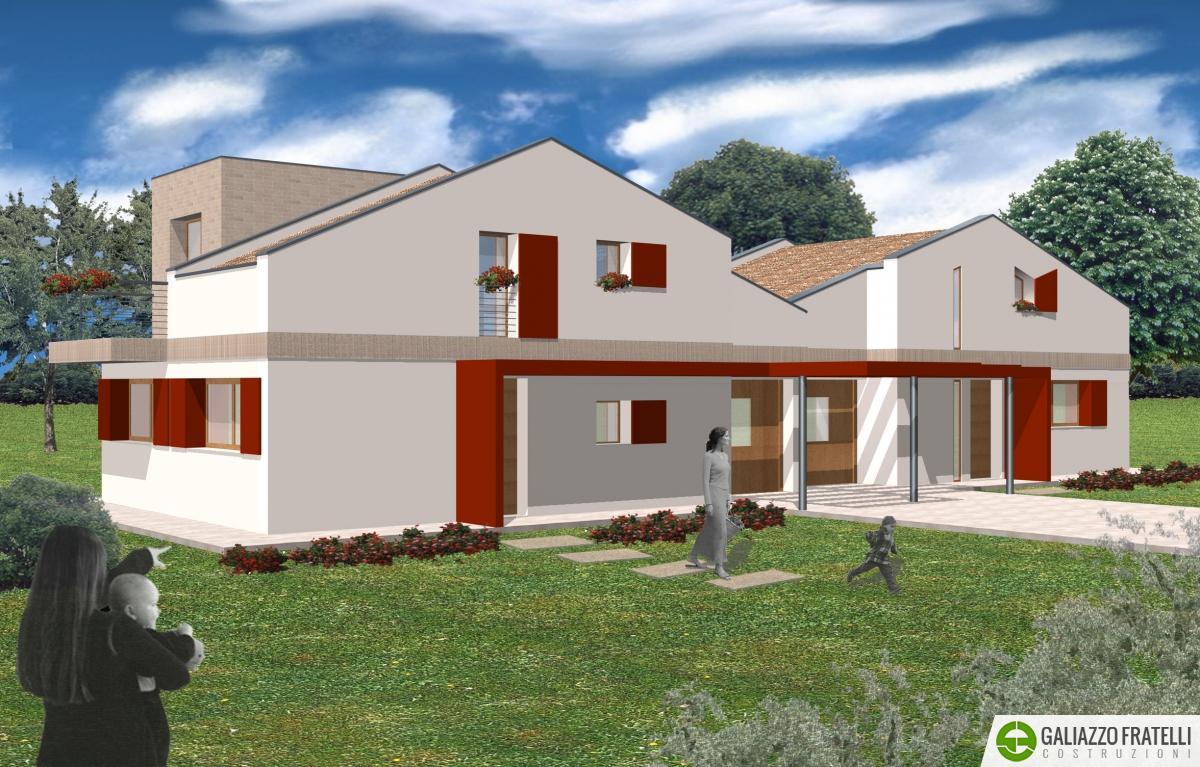Villa bifamiliare rio galiazzo fratelli costruzioni for Prospetti di villette